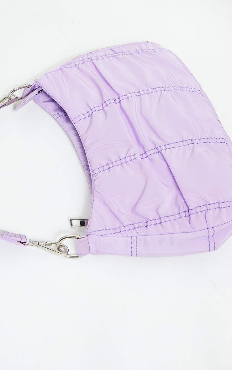 Lilac Small Ruched Shoulder Bag 1
