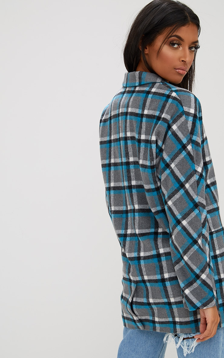 Grey Checked Coat 2