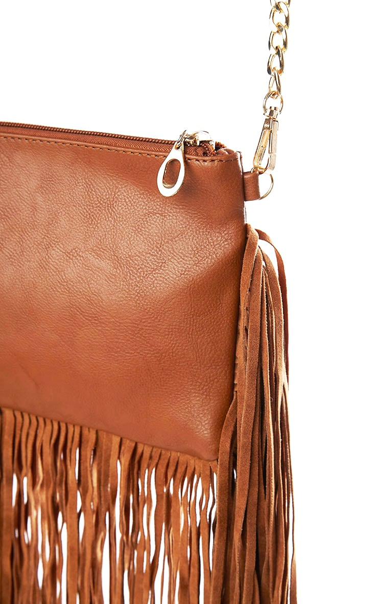 Catrine Tan Fringe Trim Bag 4