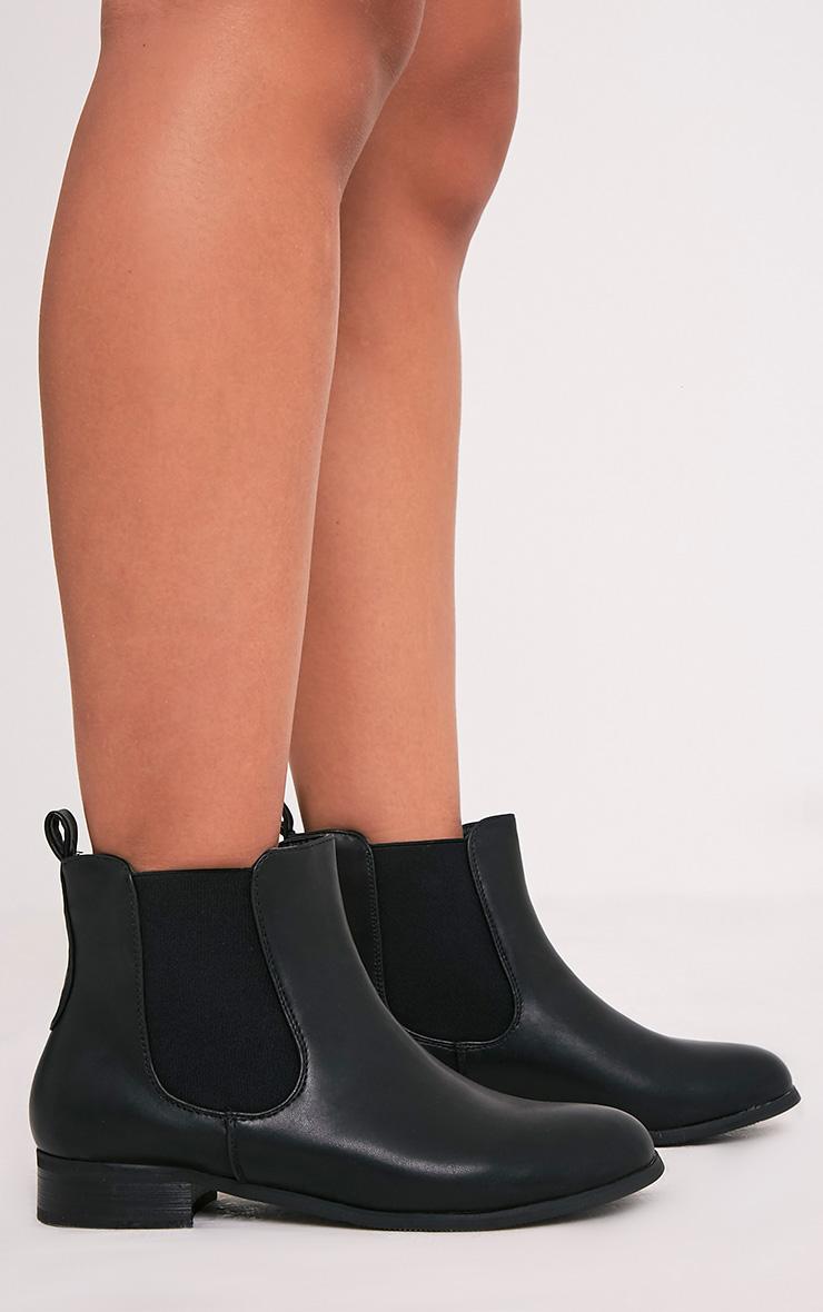 Kenley Black Faux Leather Chelsea Boots 3