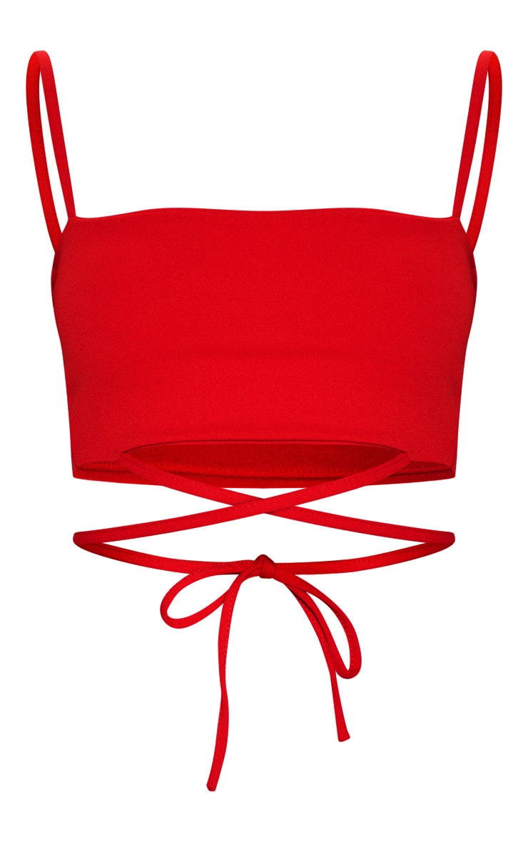 Red Strap Crop Top 3