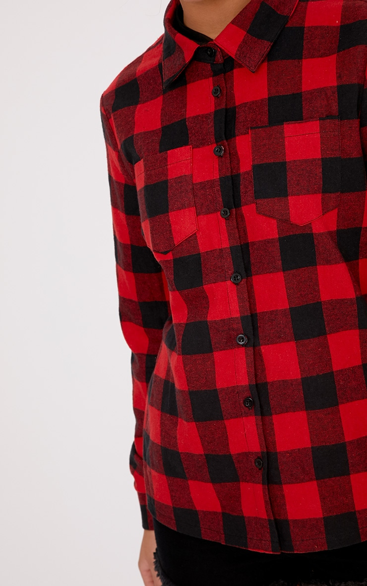 Layla Red Checked Shirt  5