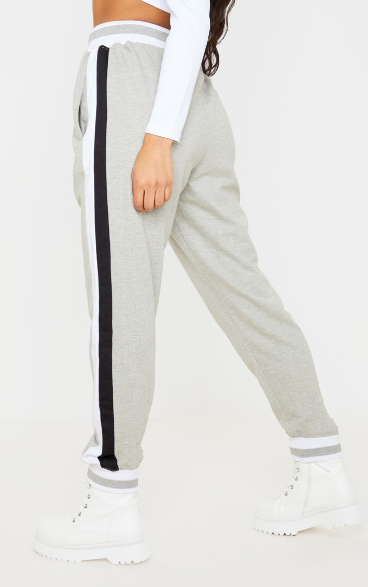 Grey Stripe Cuff Joggers 4