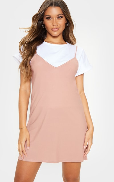 Dusty Pink Strappy Detail Backless Cami Dress