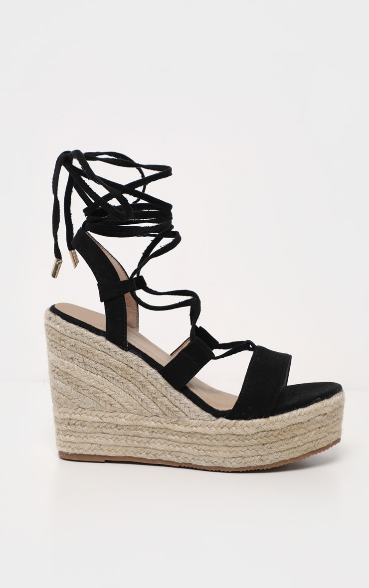 Black Ghillie Espadrille Wedge 4