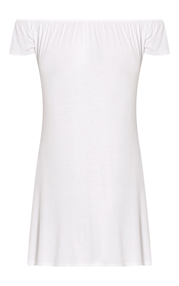 Sadia White Bardot Mini Dress 3