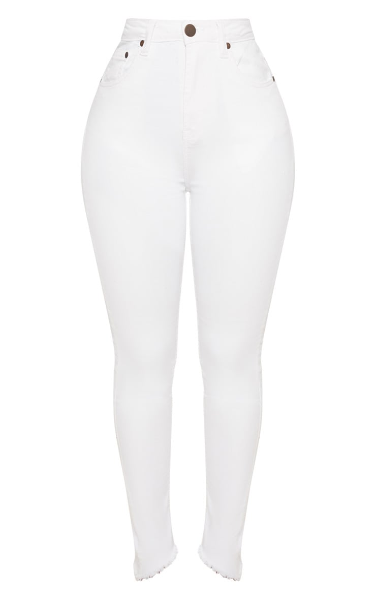 Shape White High Waist Skinny Jeans 3