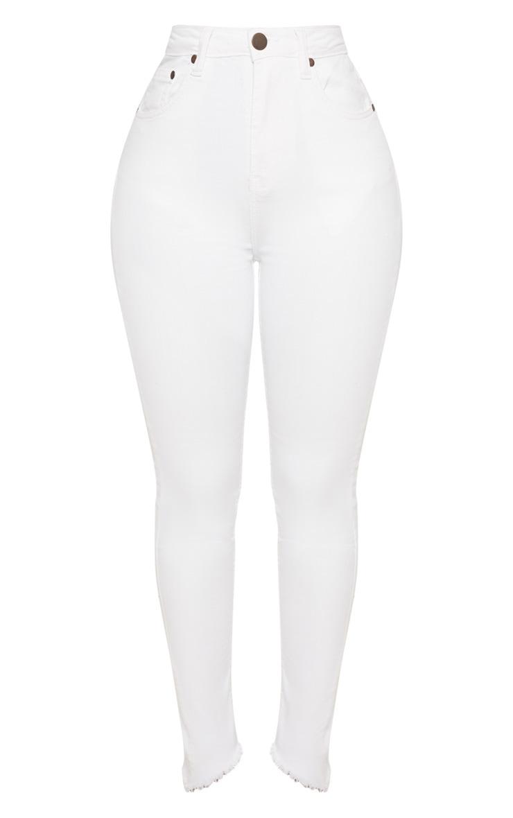 Shape- Jean skinny blanc taille haute 3
