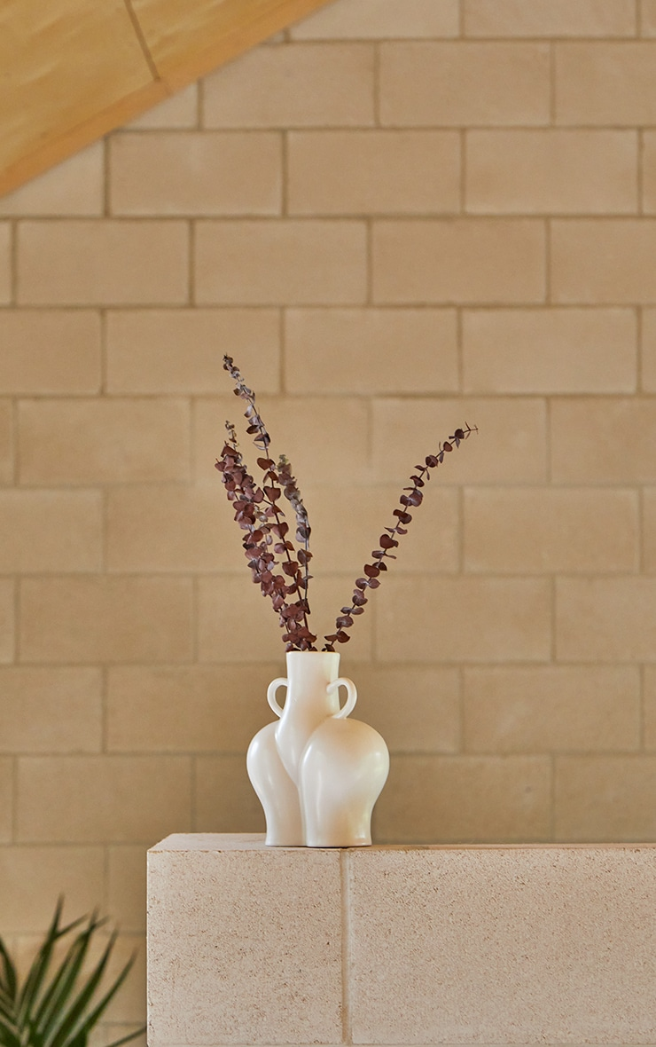 White Large Curvy Booty Vase 3