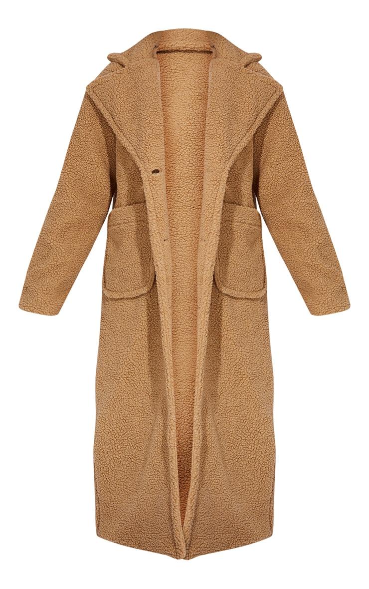 Tall Camel Maxi Borg Coat 5
