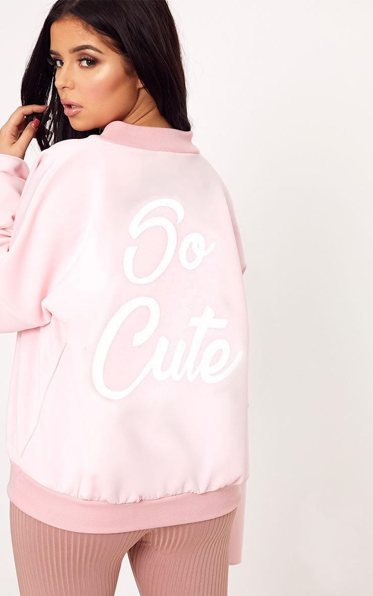 Shape Pink So Cute Bomber Jacket 1
