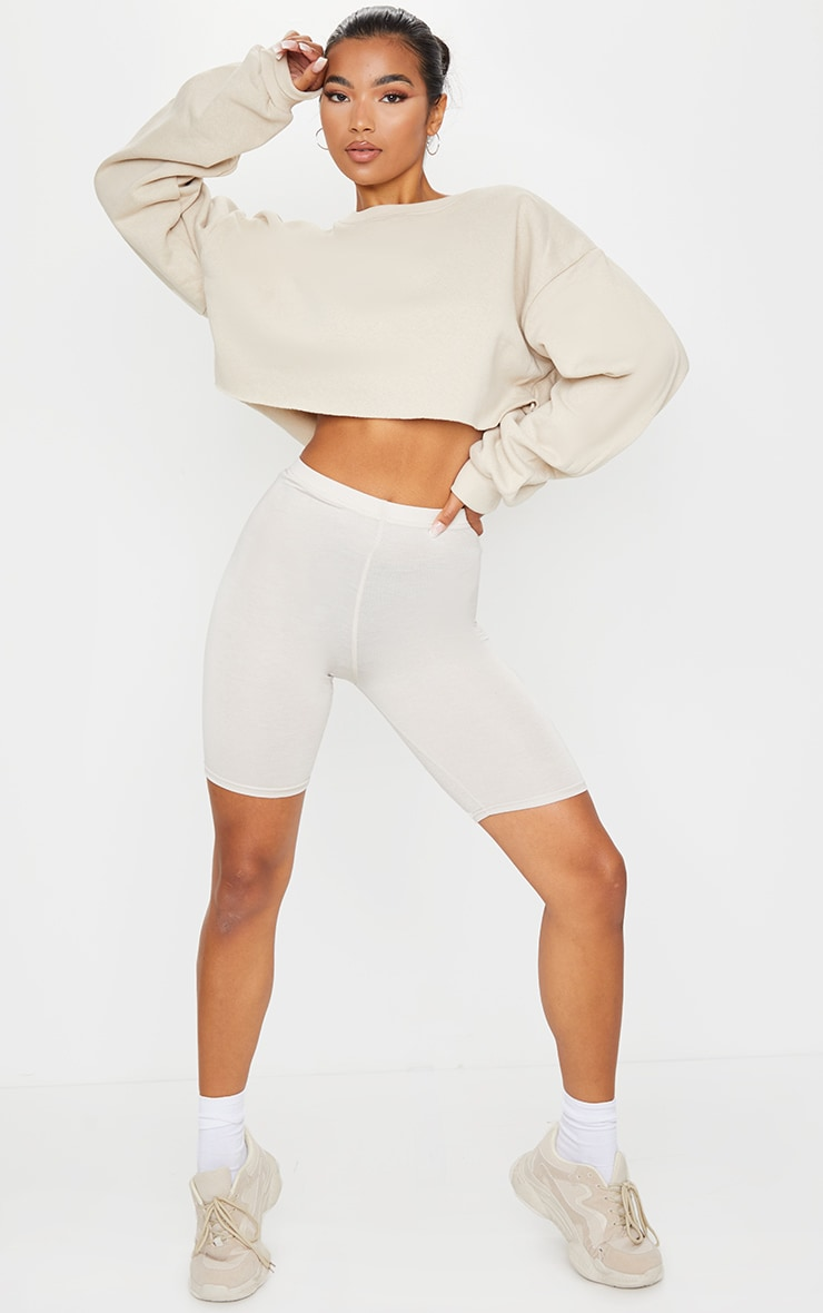 Sand Ultimate Cropped Sweater 3