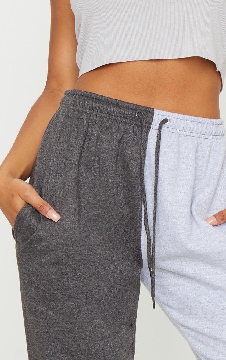 Grey Contrast Leg Joggers 4