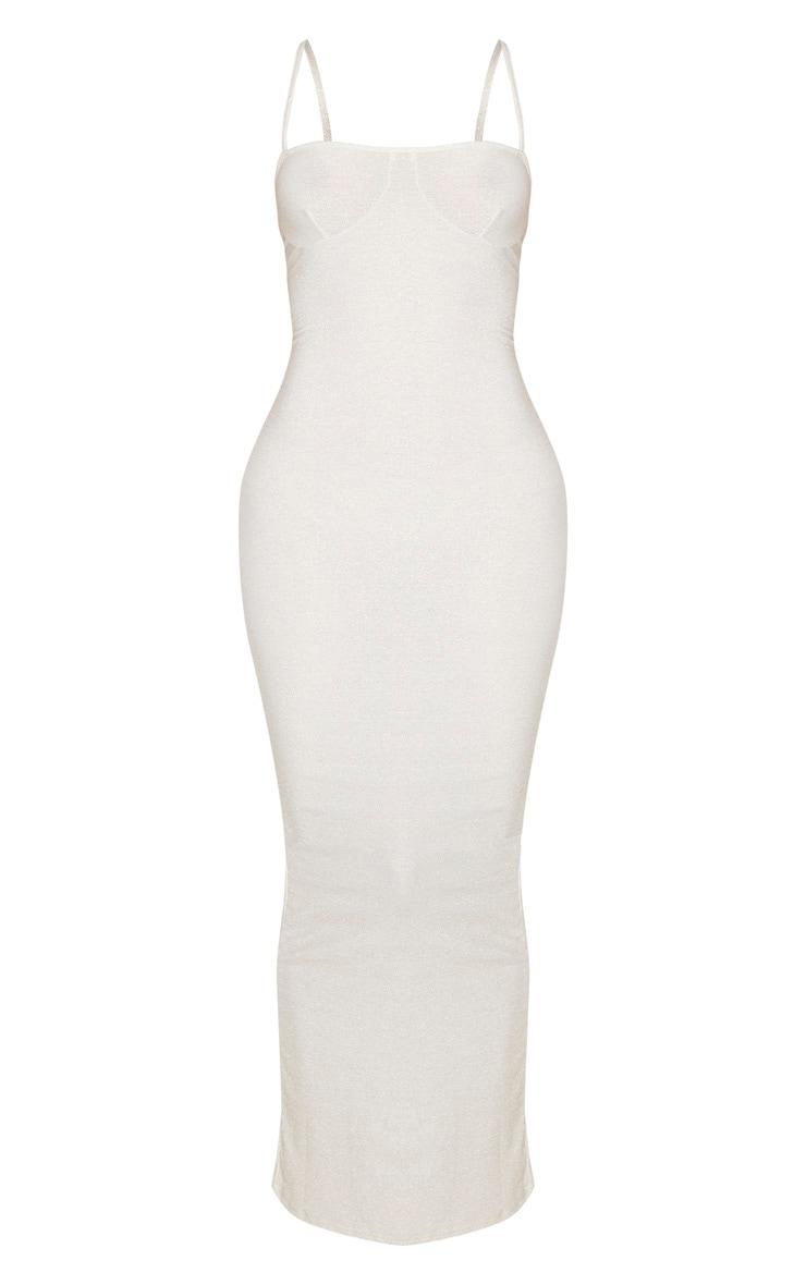 Tall Gold Strappy Bodycon Maxi Dress 3