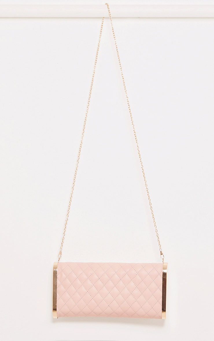 Maia Baby Pink Padded Zip Clutch 4
