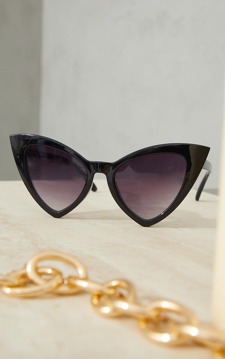 Black Extreme Cat Eye Sunglasses 2
