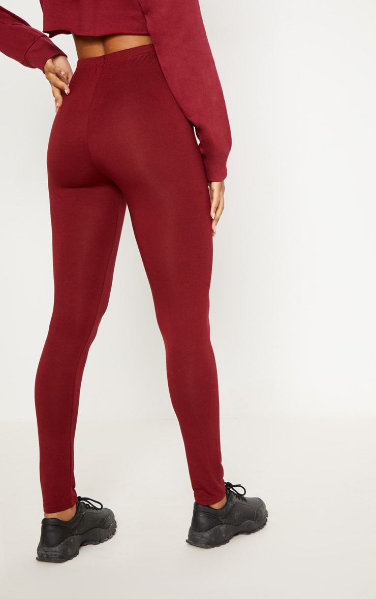 Burgundy and Taupe Basic Jersey Legging 2 Pack 5