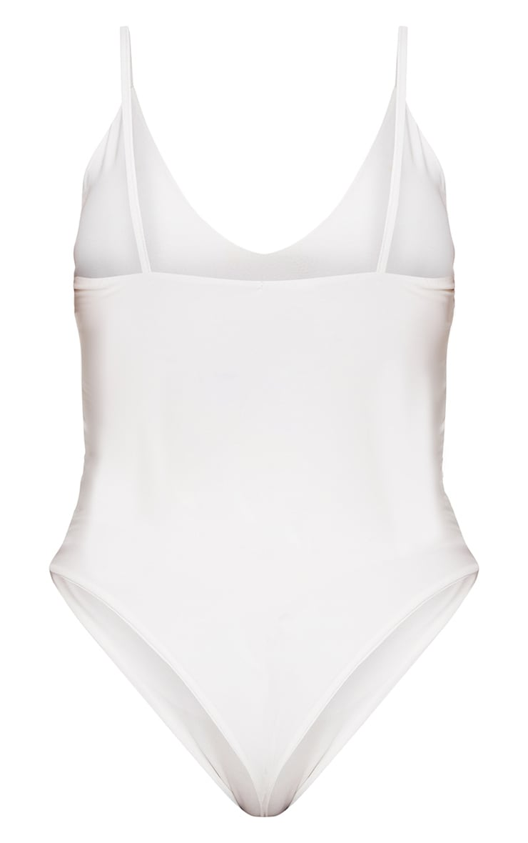 Shape White Slinky Double Layer Bodysuit 4
