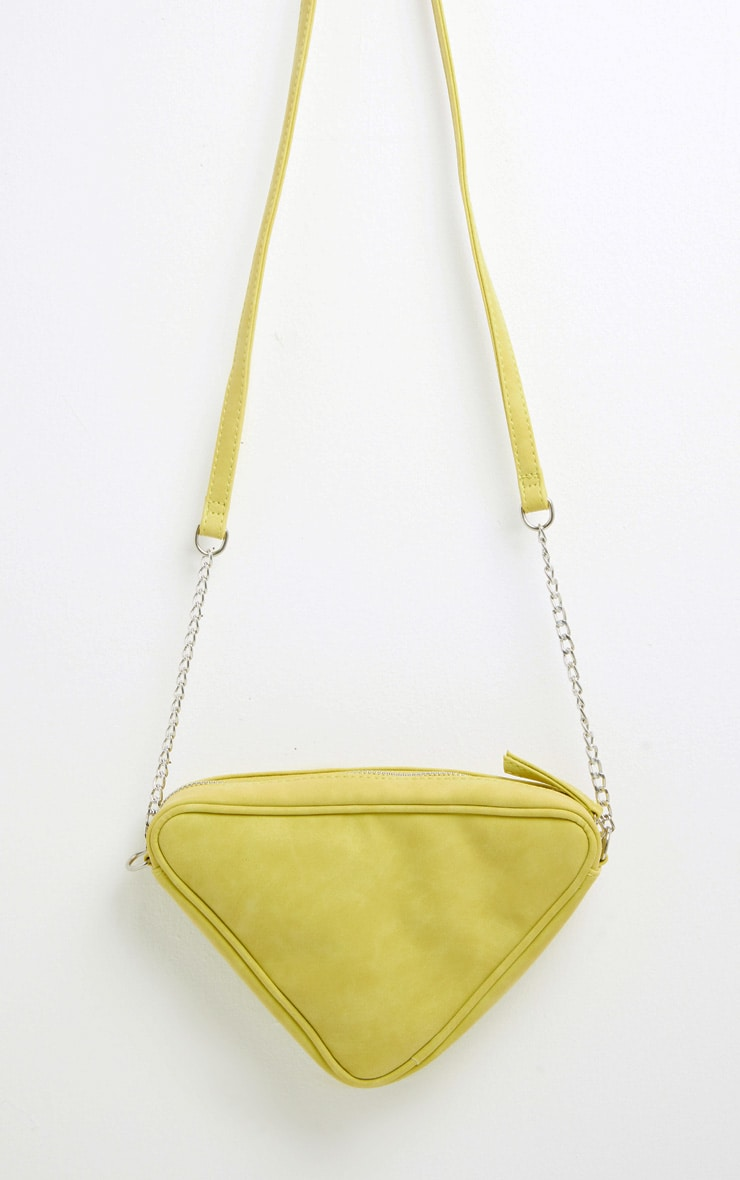 Lime Triangle Cross Body 3