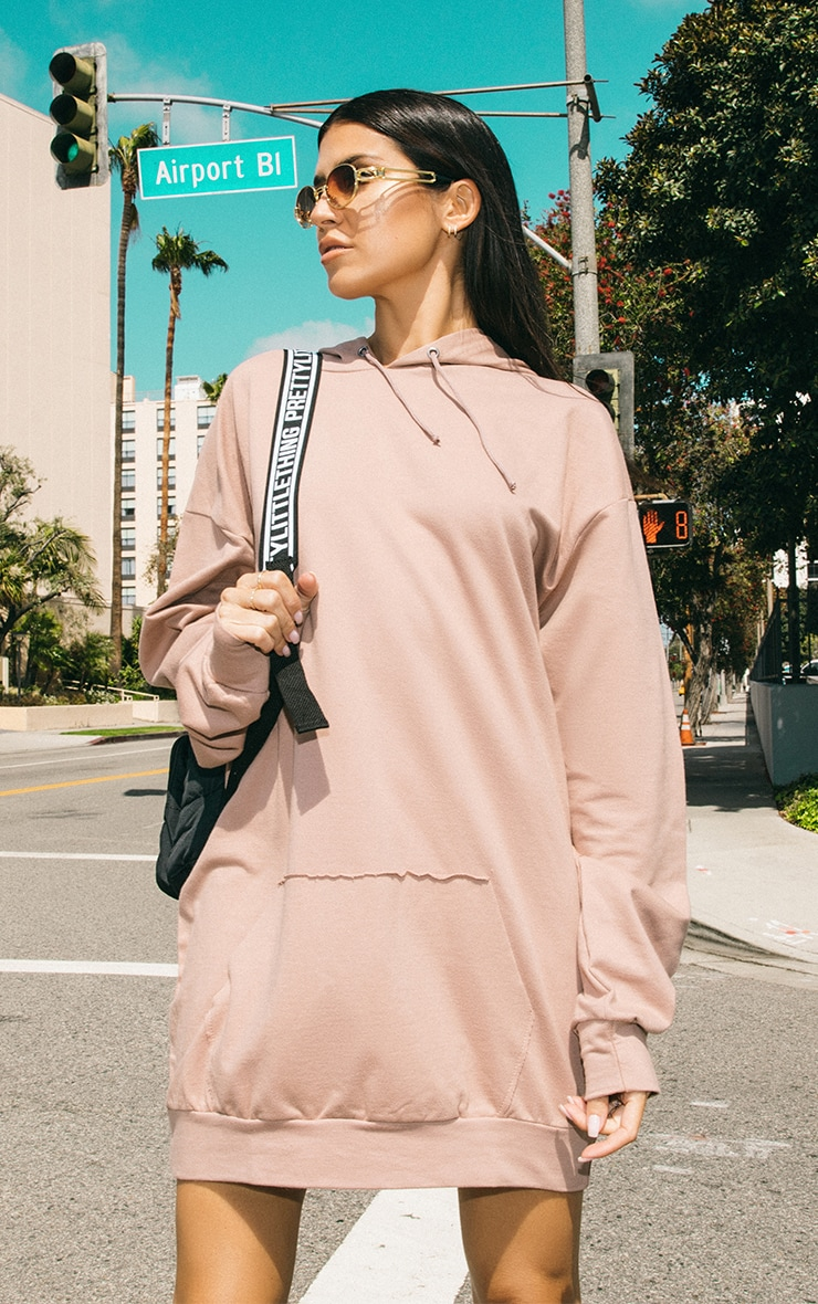 Sand Oversized Hoodie Dress Pretty Little Thing High Quality Sale Online Outlet Shopping Online Cheapest Price Sale Online Clearance Best Wholesale Quality Original s4mbYkZz9