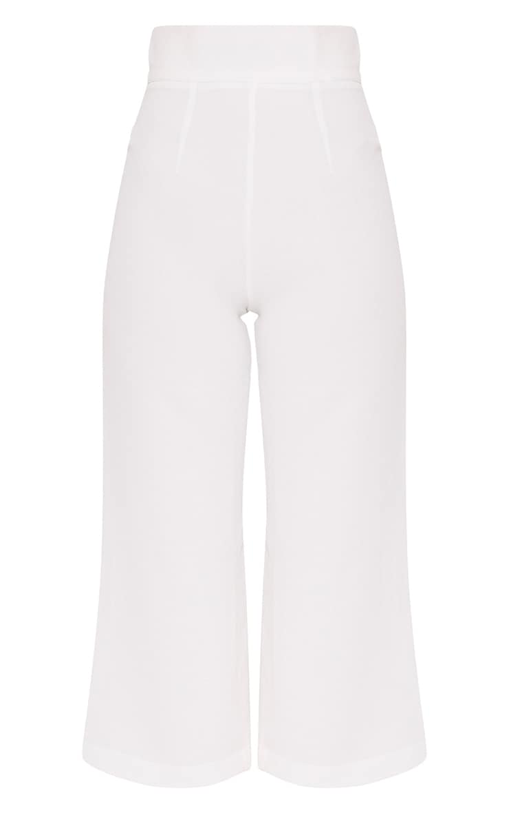 Tazmin White High Waisted Culottes 3