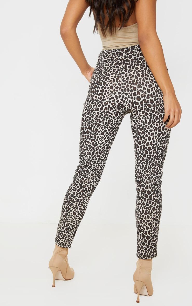 Stone  Leopard Skinny Pants 4