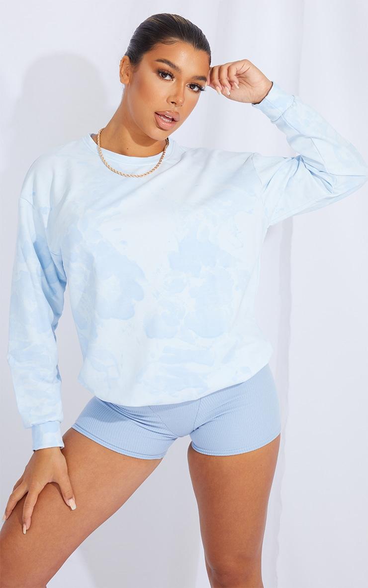 Baby Blue Tie Dye Sweatshirt 1