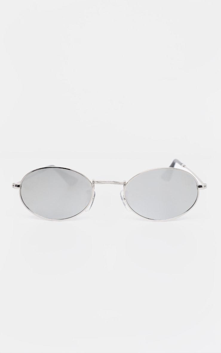 Silver Revo Metal Oval Sunglasses 2