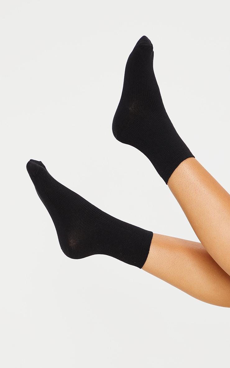 Black Sports Sock 1