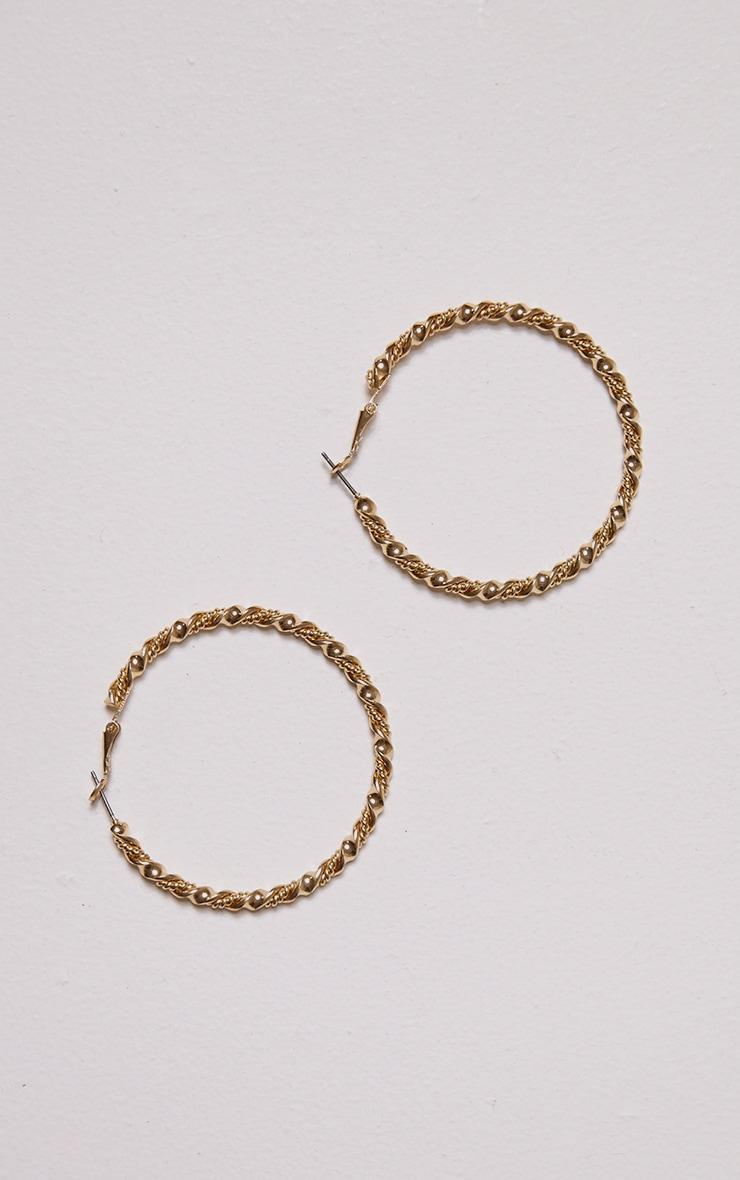 Indie Gold Chunky Hoop Earings 1