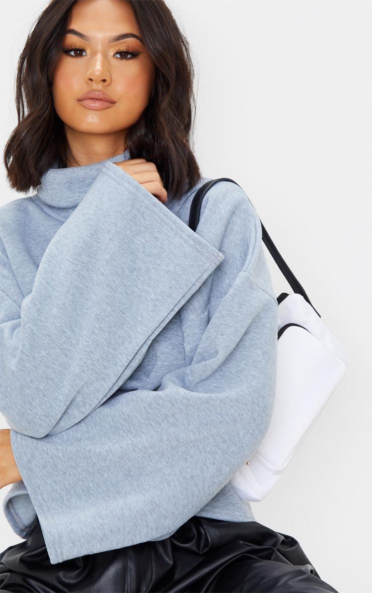 Grey Fleece Roll Neck Sweater 5