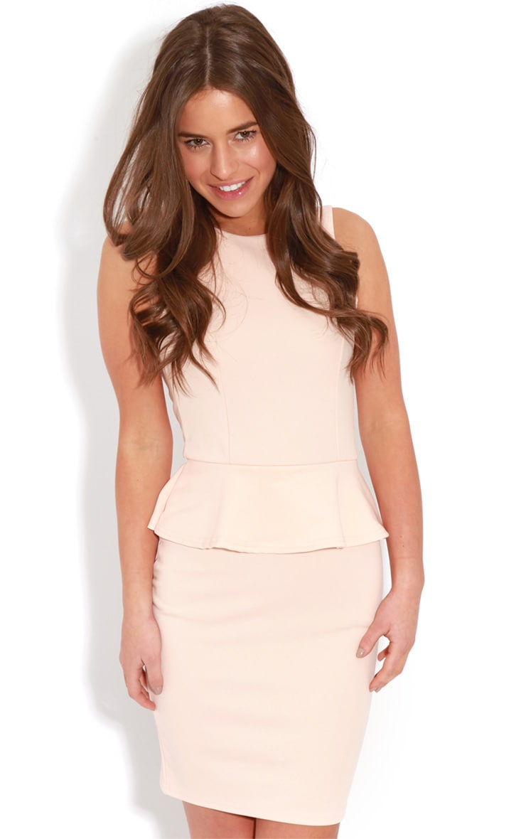 Rylie Peach Peplum Dress 4