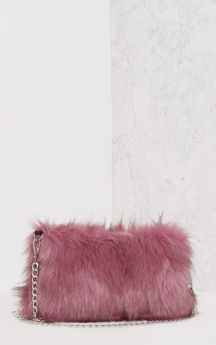Christah Rose Faux Fur Chain Shoulder Bag 3