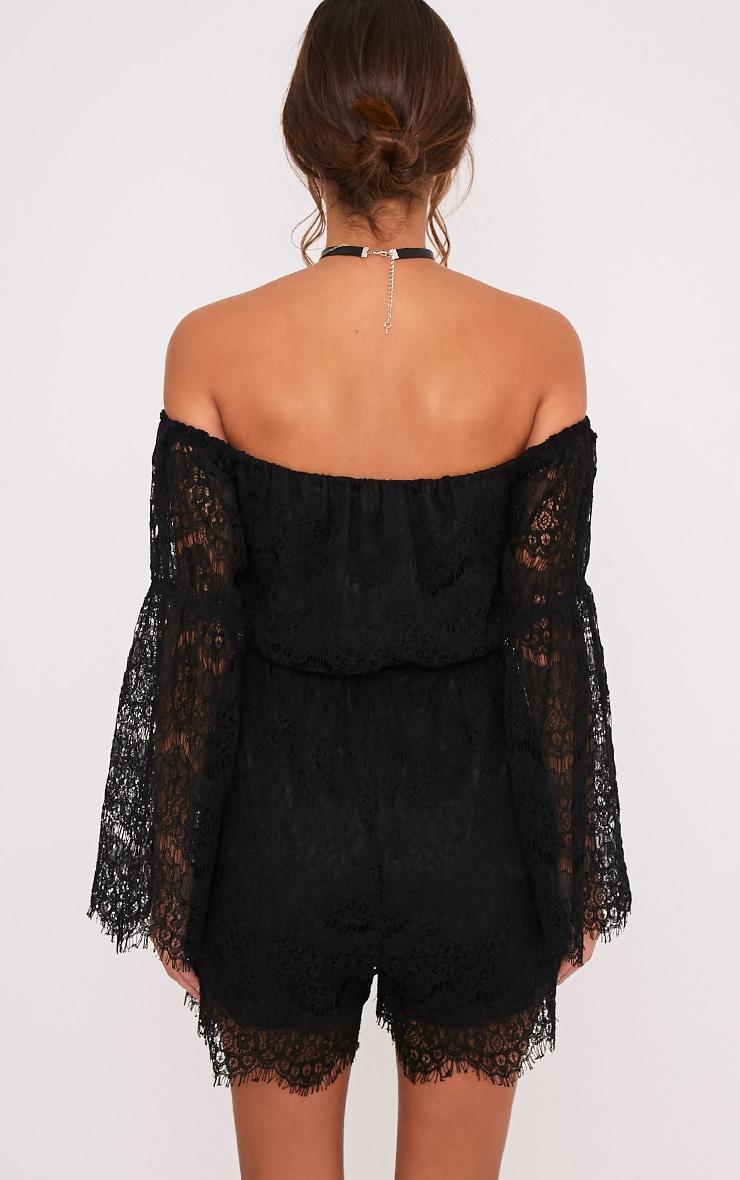 Juliah Black Lace Playsuit 2