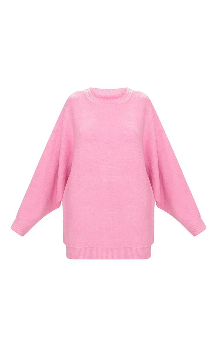Pink Oversized Knitted Jumper 3