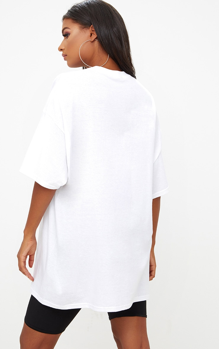 White Oversized Boyfriend T Shirt 2