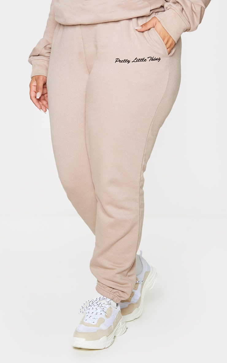 PRETTYLITTLETHING Plus Stone Embroidered Joggers 2