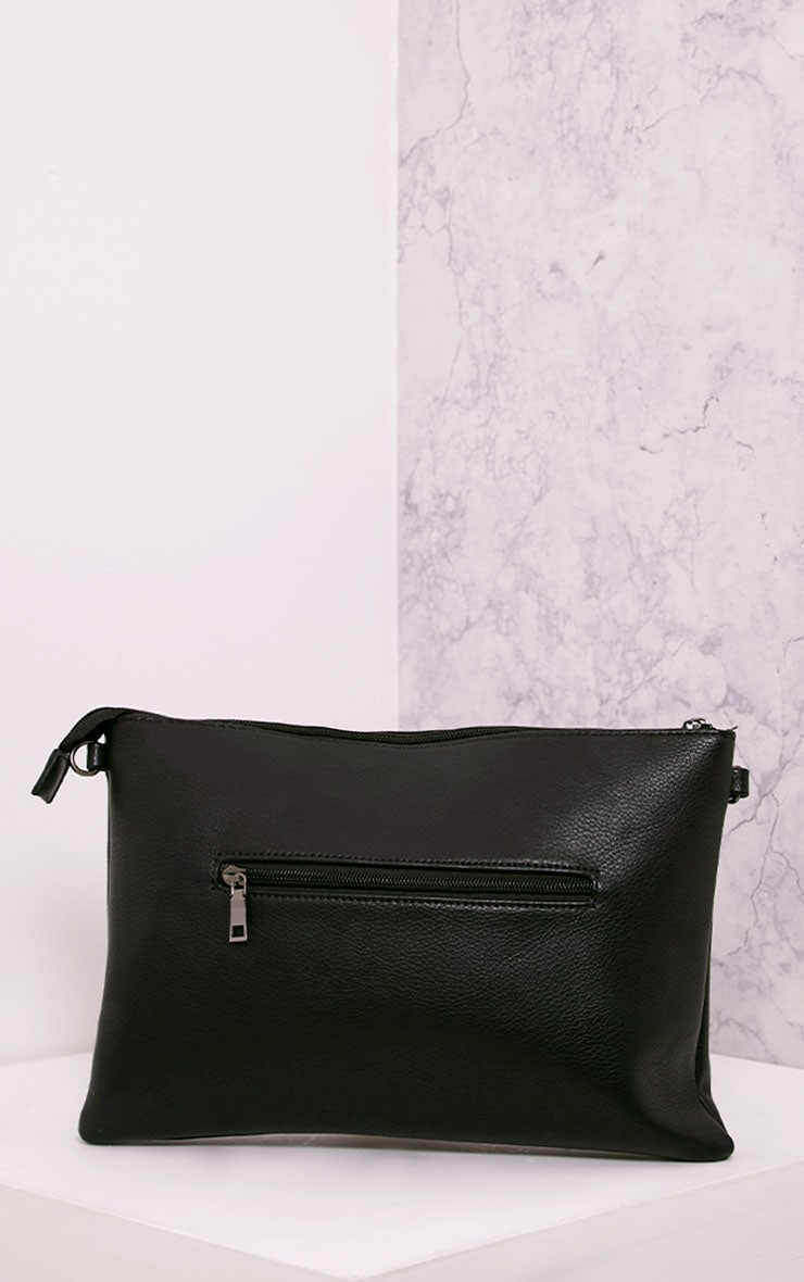 Floanna Black Eye Detail Clutch Bag 2