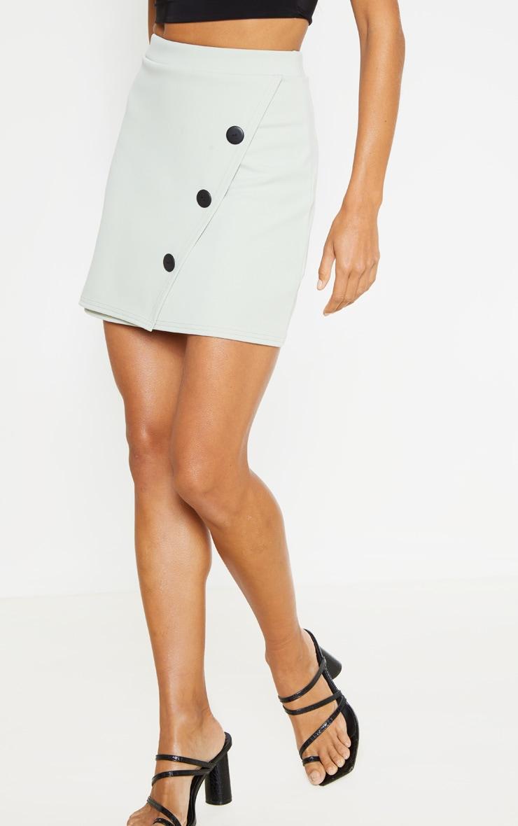 Sage Button Skirt 2