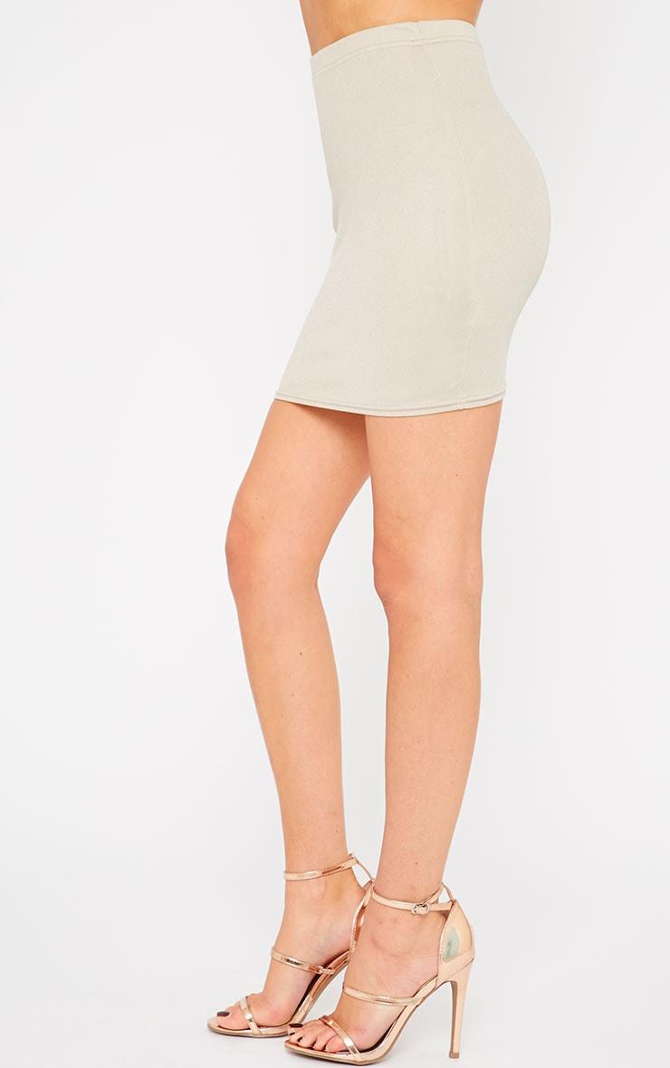 Emilia Stone Crepe Mini Skirt 3