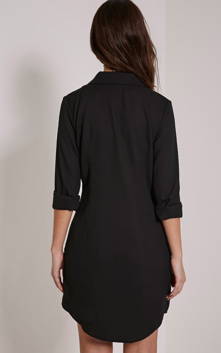 Lucah Black Double Breasted Blazer Dress 2