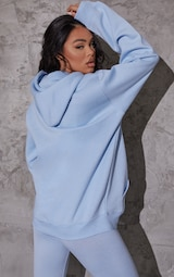 Recycled Baby Blue Oversized Sweat Hoodie 2