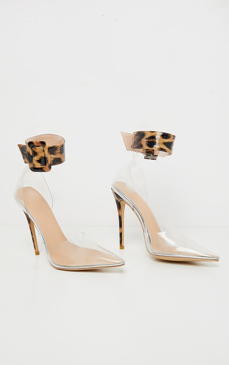 Leopard Cuff Detail Court Shoes 5