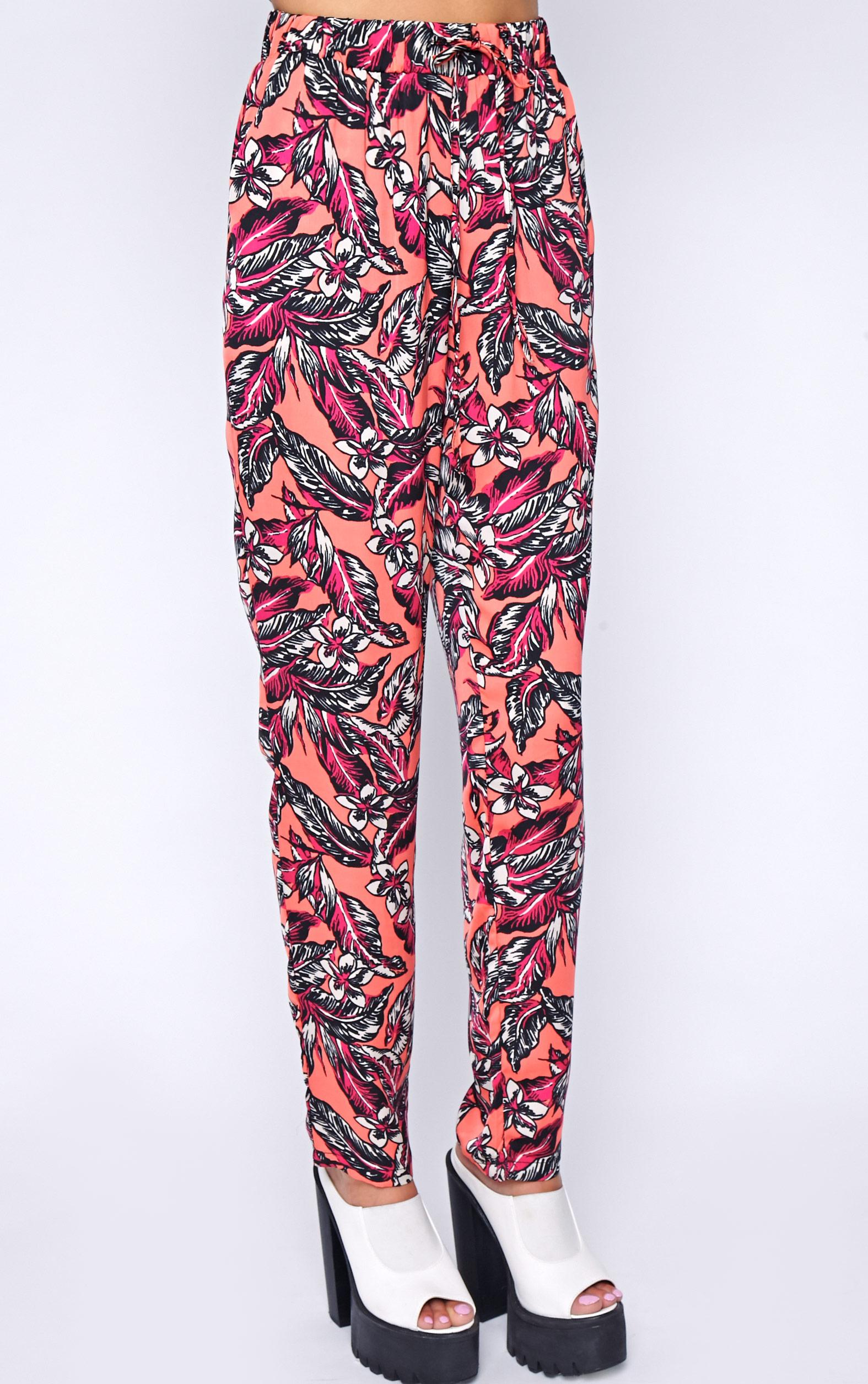 Annabelle Coral Floral Print Trouser 3