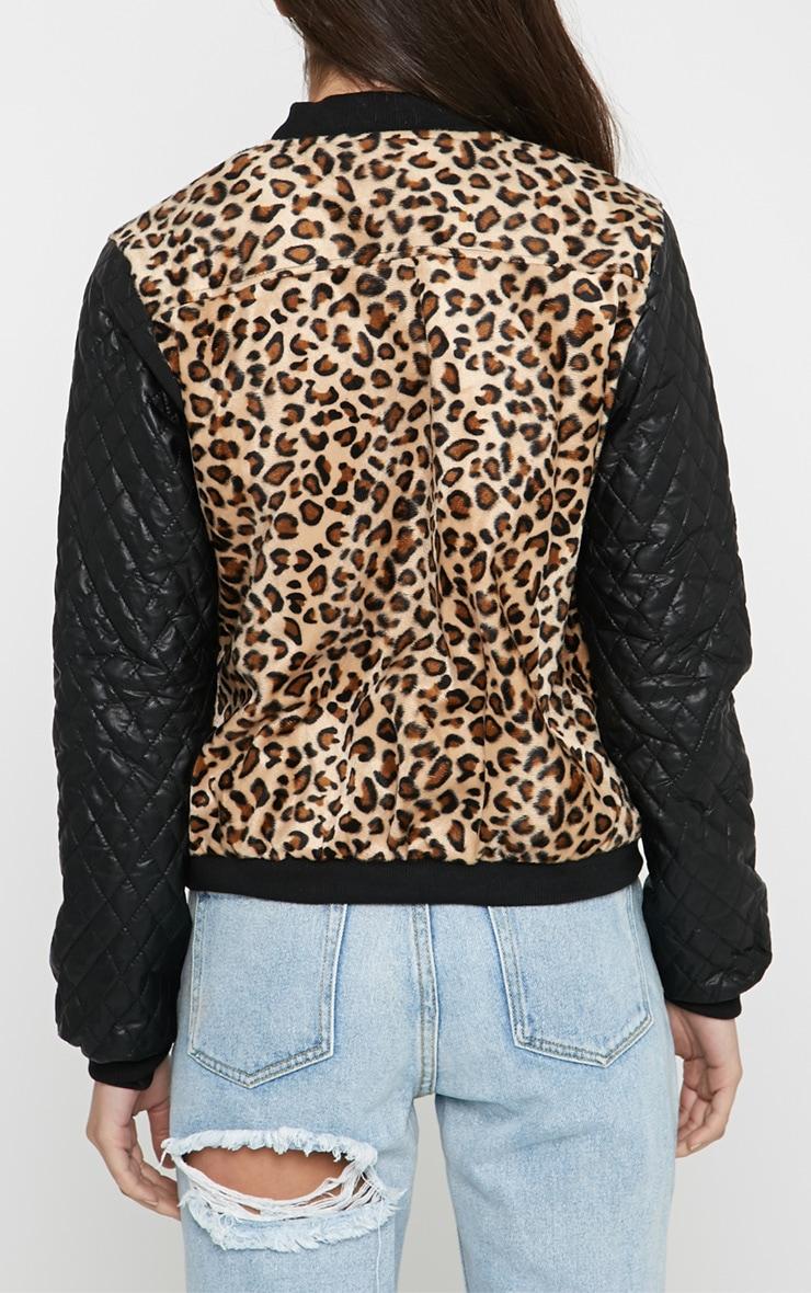 Kathryn Leopard & Leather Bomber Jacket 2