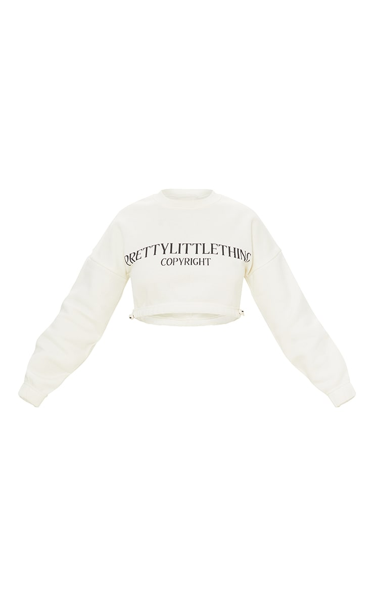 PRETTYLITTLETHING Petite Cream Cropped Sweater 5
