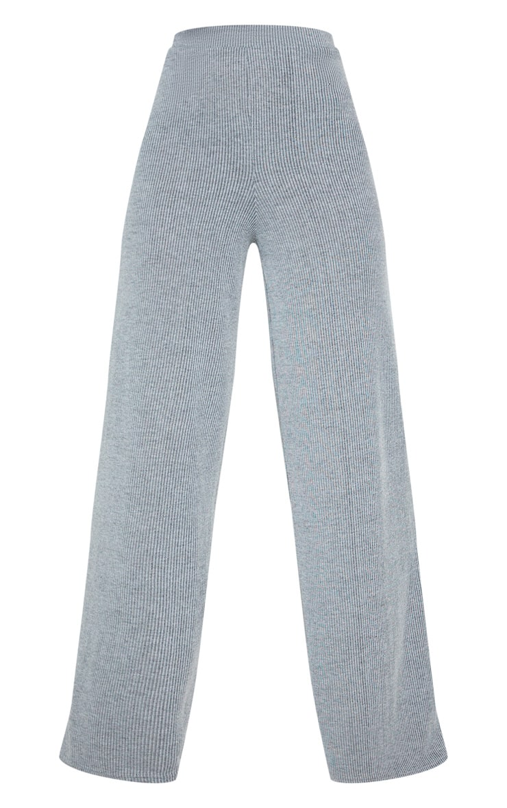 Grey Stripe Wide Leg Lounge Pants 3