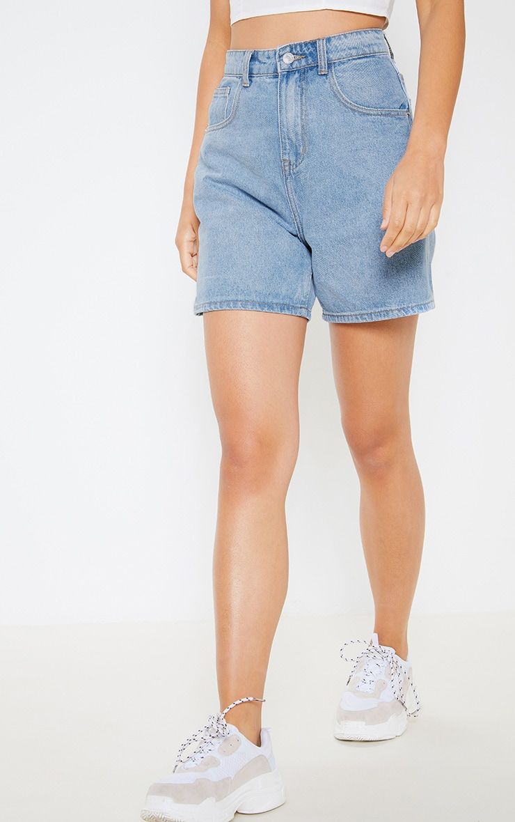 Light Blue Mom Shorts 2