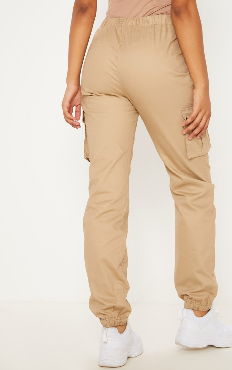 Tall Stone  Pocket Detail Cargo Trousers 4