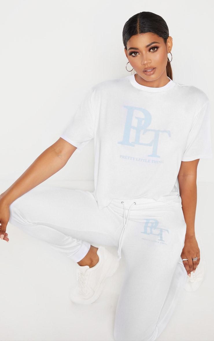 PRETTYLITTLETHING Tall - T-shirt blanc à col ras-du-cou 4